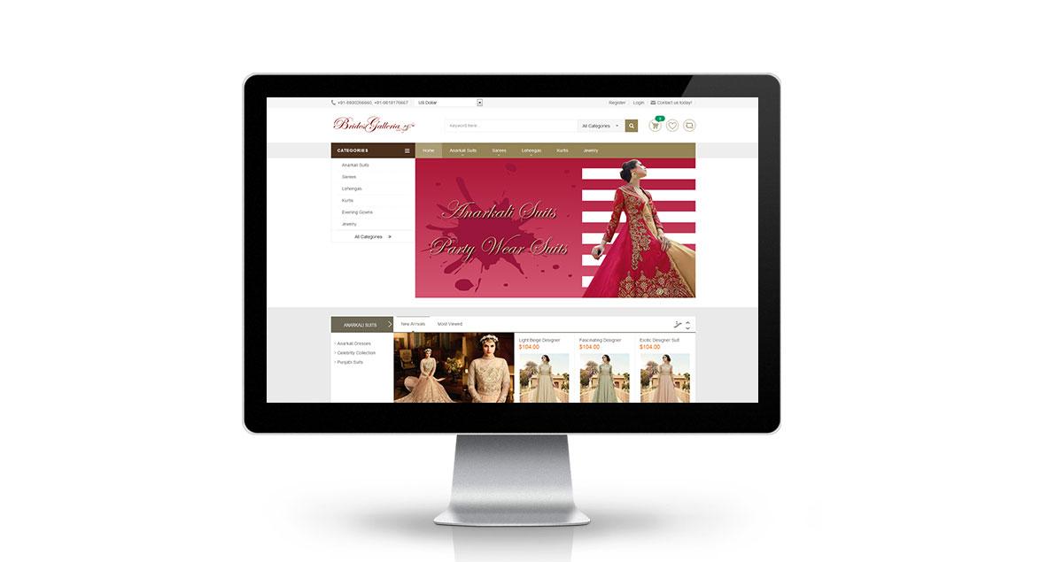 Brides Galleria Website Desktop