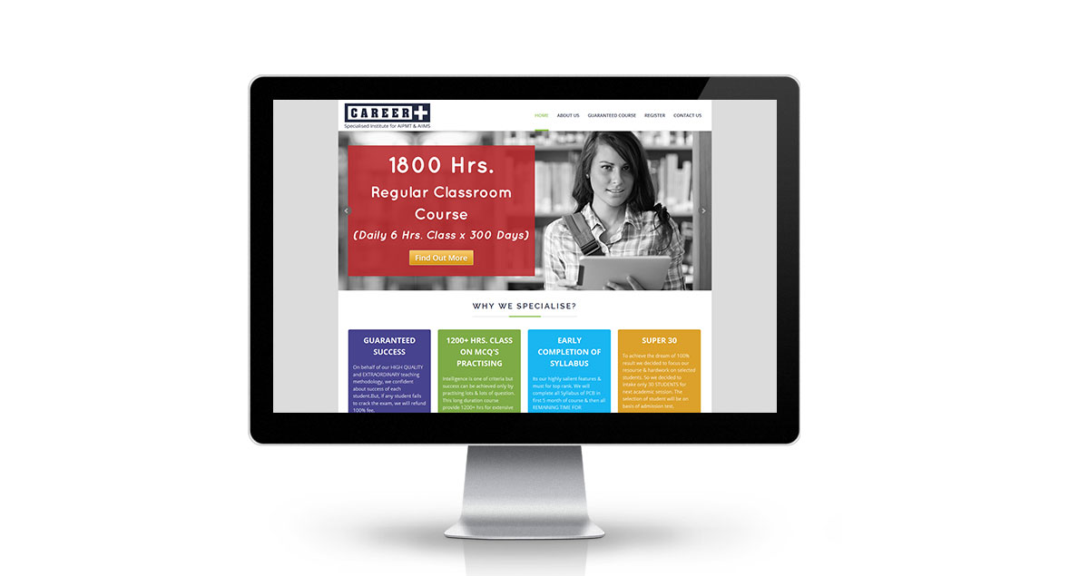 Career Plus Delhi Website Desktop
