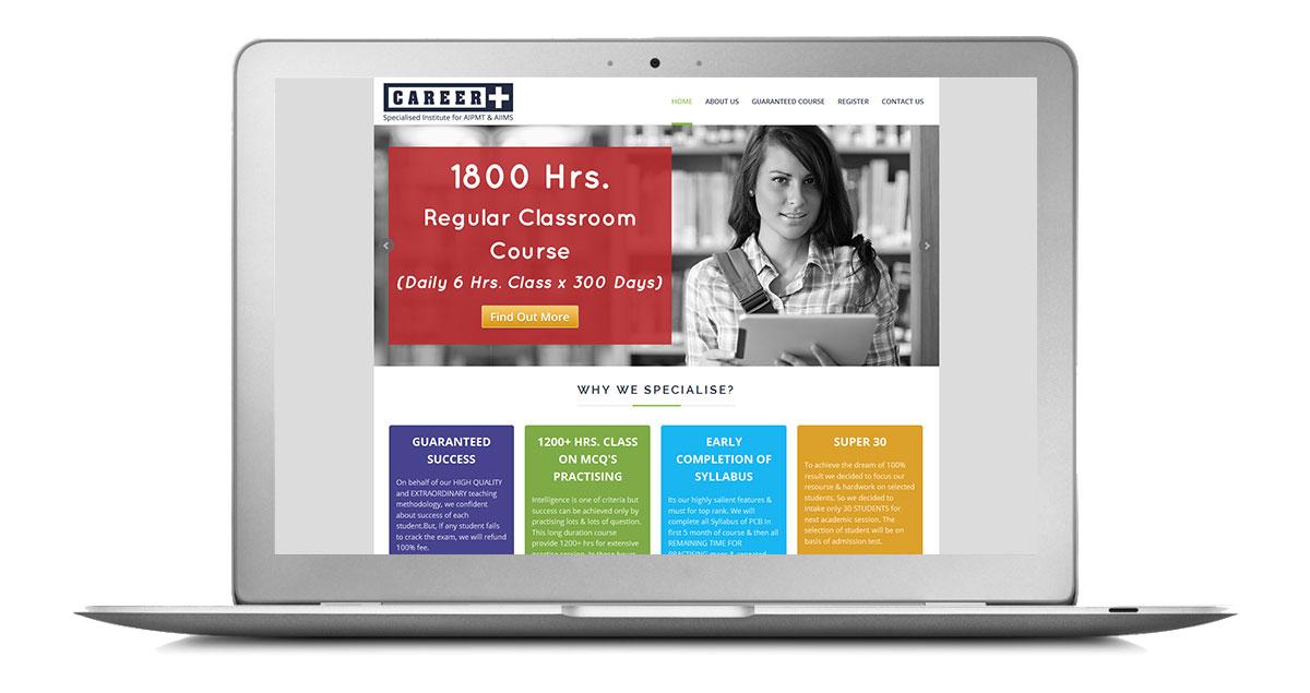 Career Plus Delhi Website Laptop