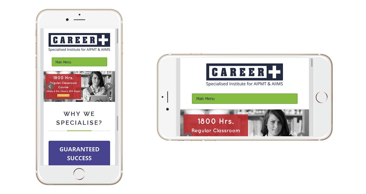 Career Plus Delhi Website Mobile