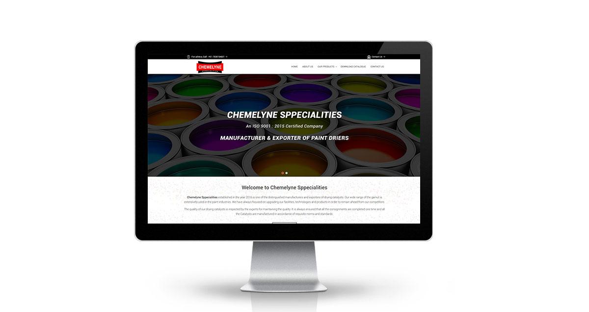 Chemelyne Sppecialities Website Desktop