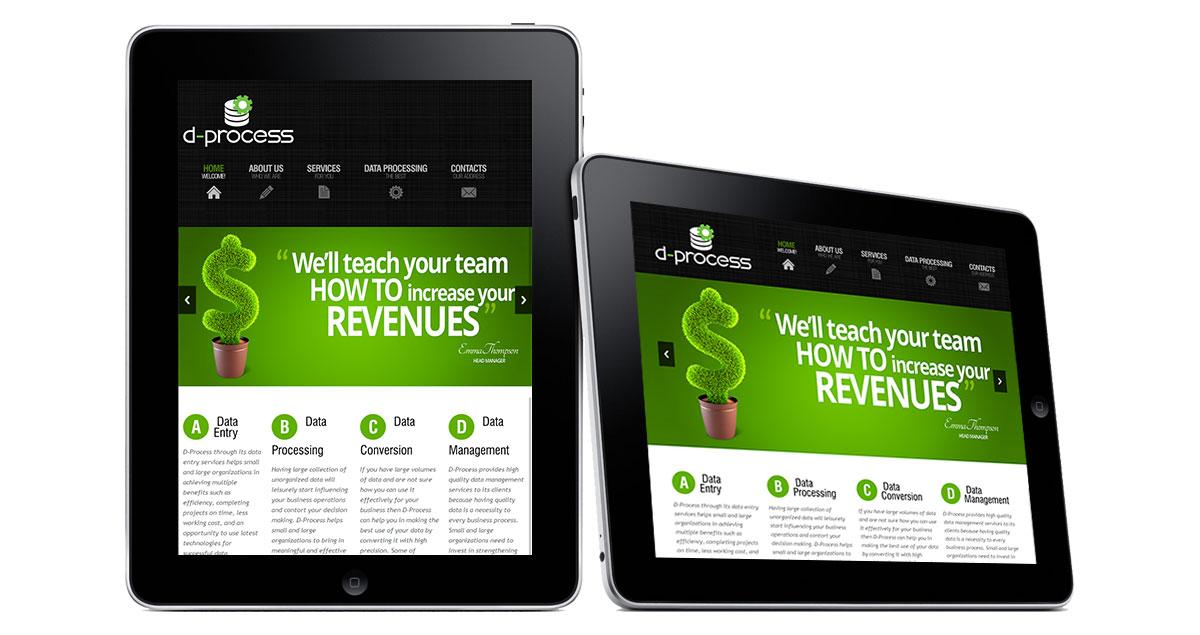 D-Process Website iPad