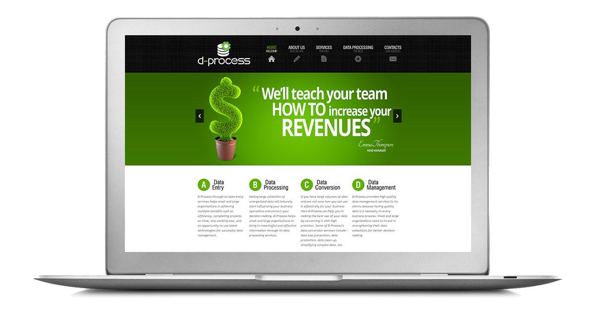 D-Process Website Laptop