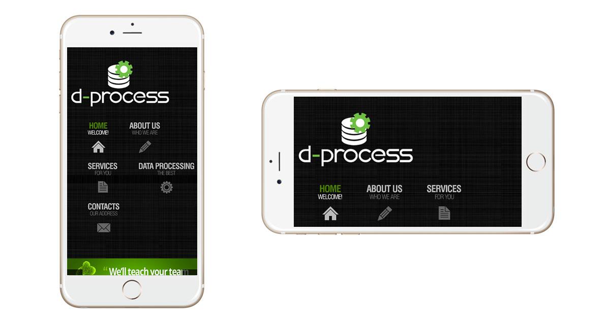 D-Process Website Mobile