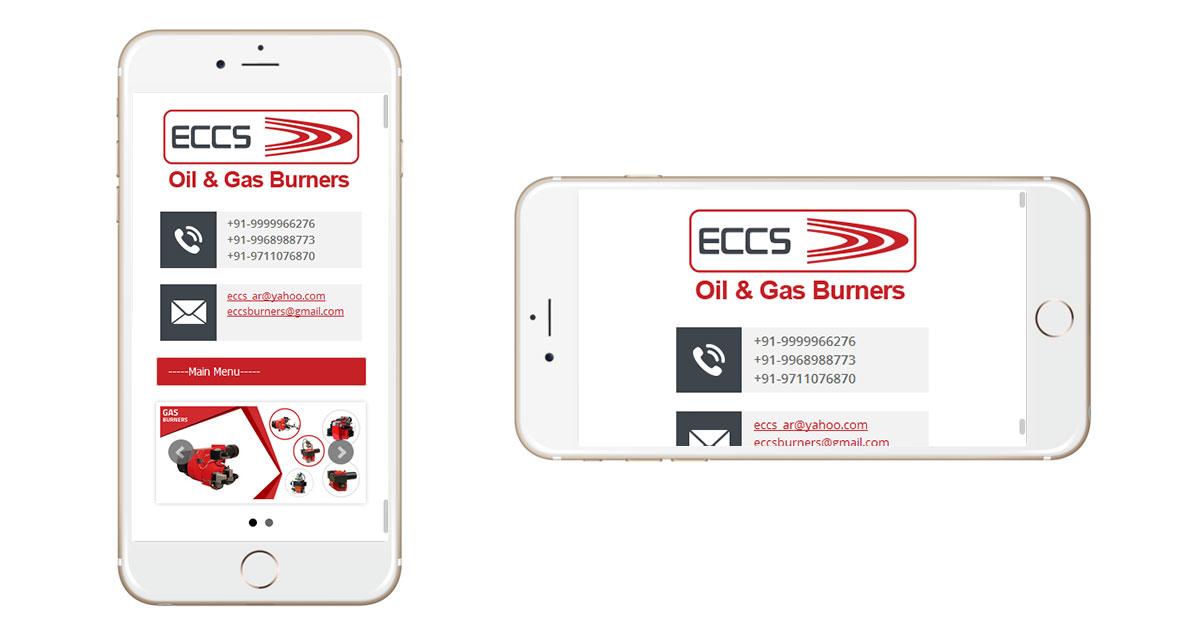ECCS Burners Website Mobile