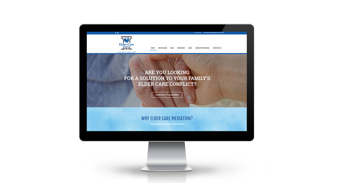 Elder Care Mediations Website Desktop