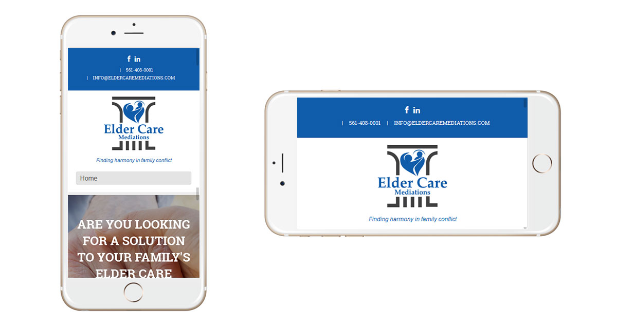 Elder Care Mediations Website Mobile