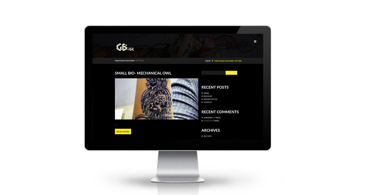 GB Hub Website Desktop