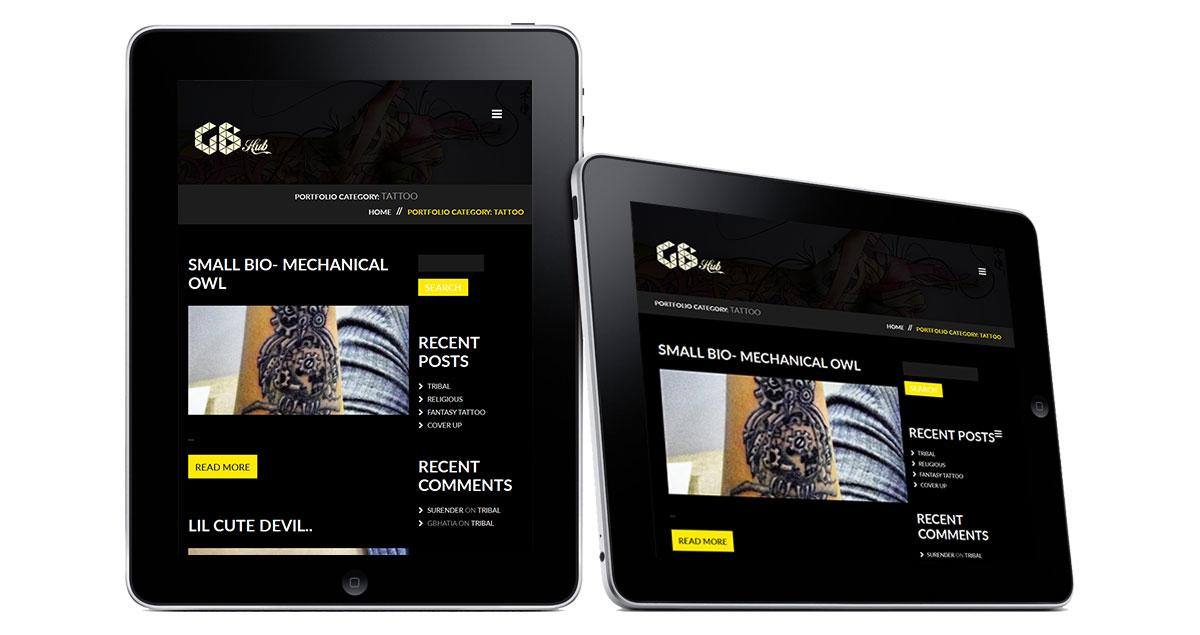 GB Hub Website iPad