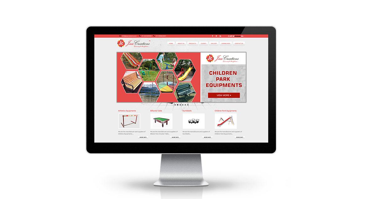 Jass Creations Website Desktop