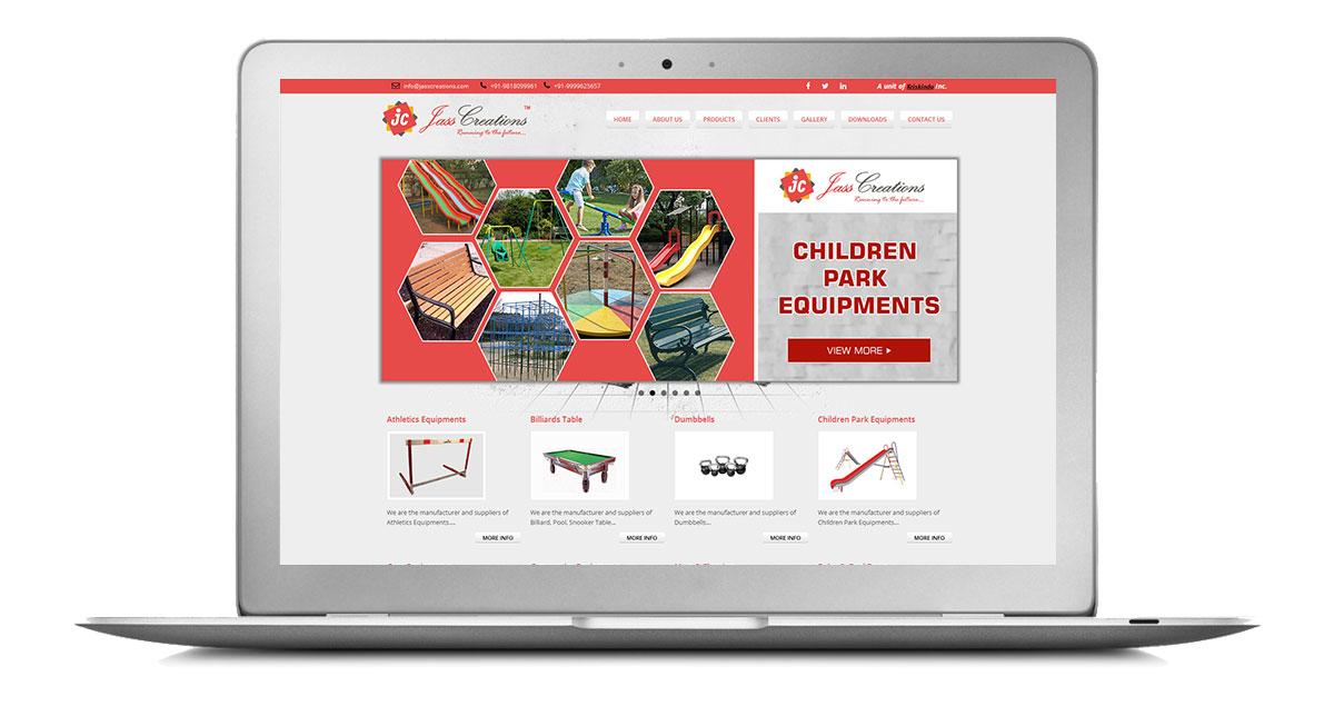 Jass Creations Website Laptop