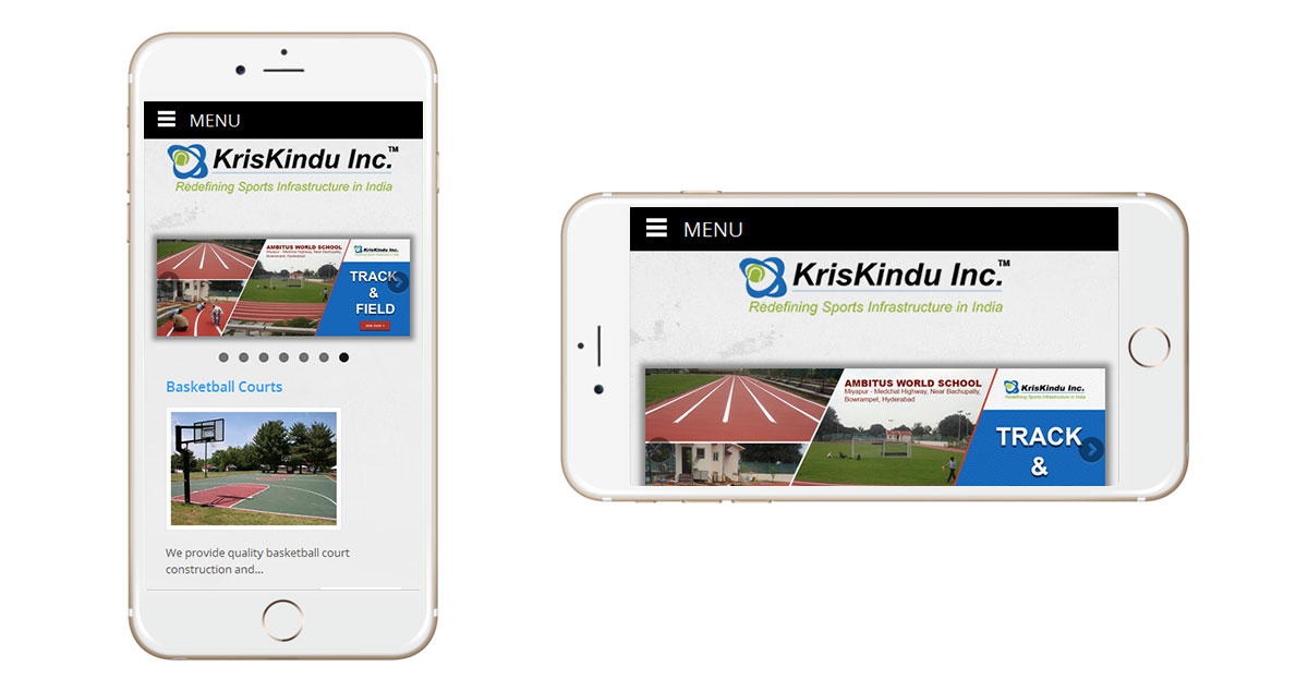 KrisKindu Website Mobile