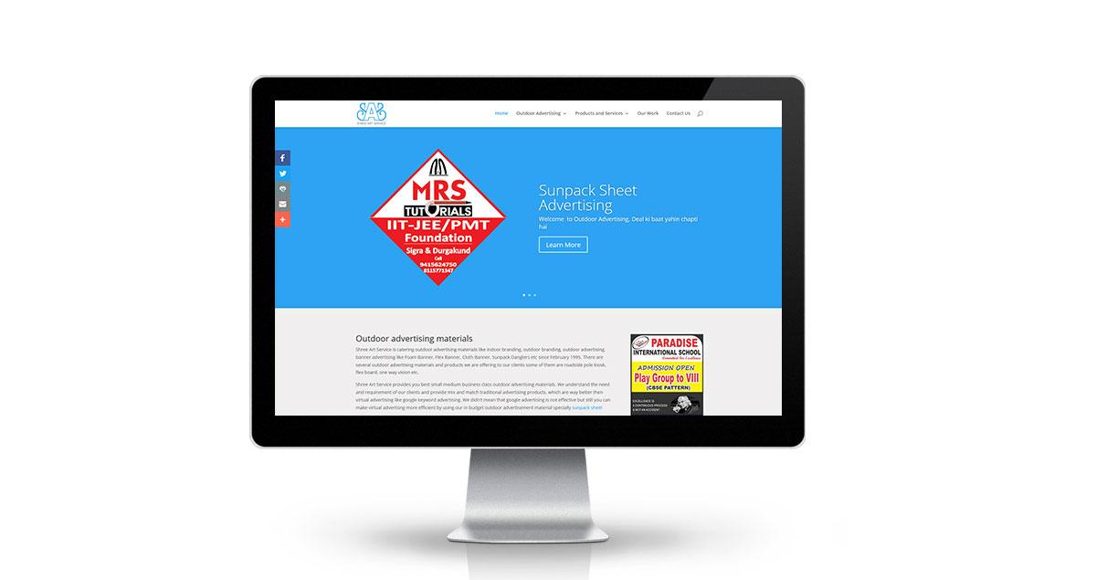 Outdoor Advertising Website Desktop
