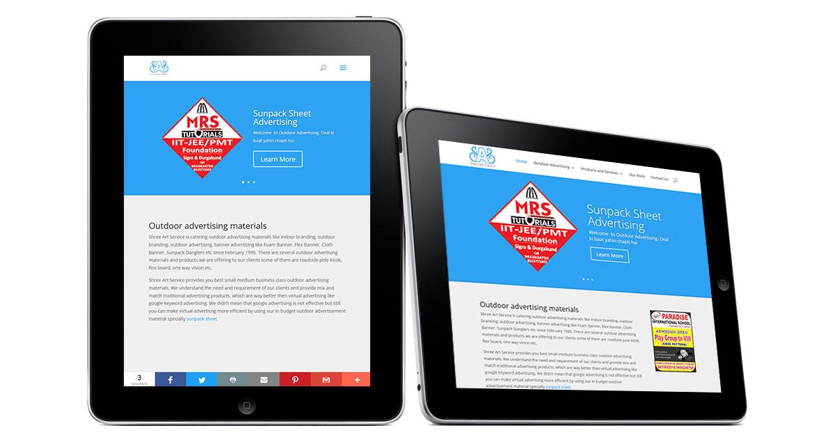 Outdoor Advertising Website iPad