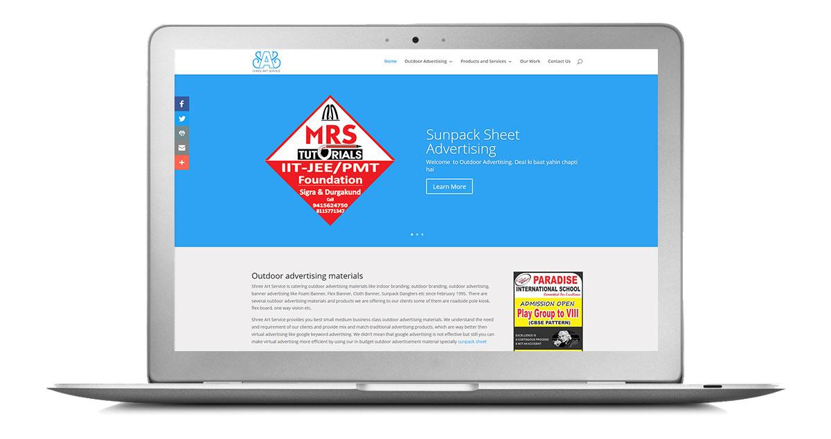 Outdoor Advertising Website Laptop