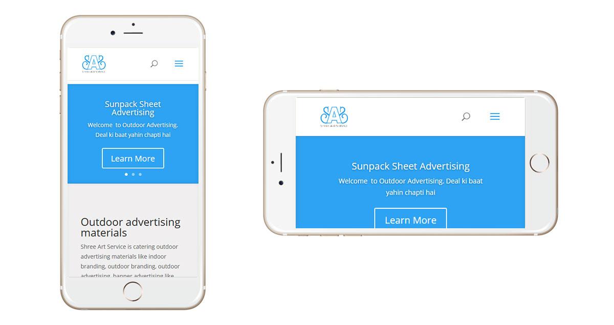 Outdoor Advertising Website Mobile