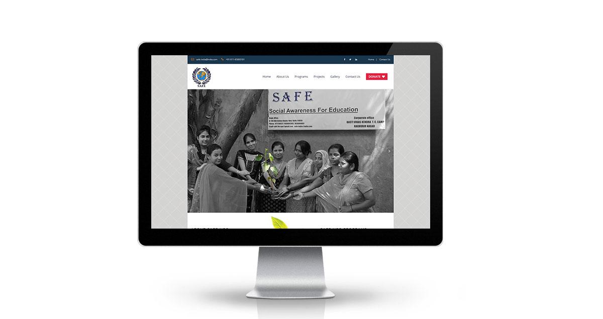 Safe NGO Website Desktop