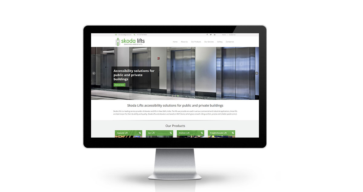 Skoda Lifts Website Desktop