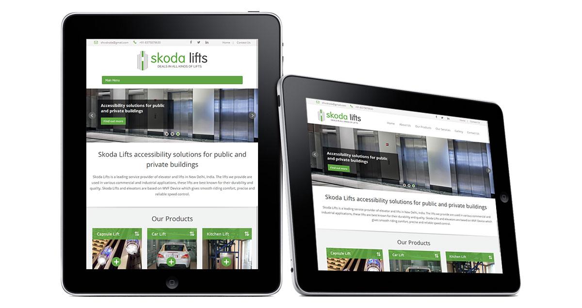 Skoda Lifts Website iPad