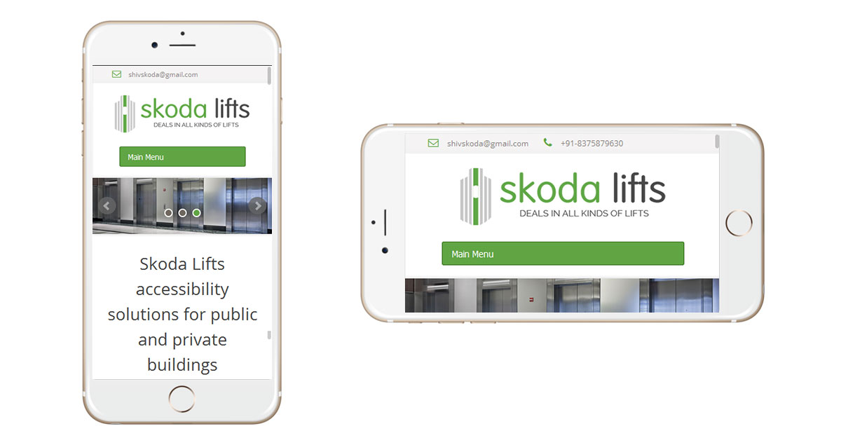 Skoda Lifts Website Mobile