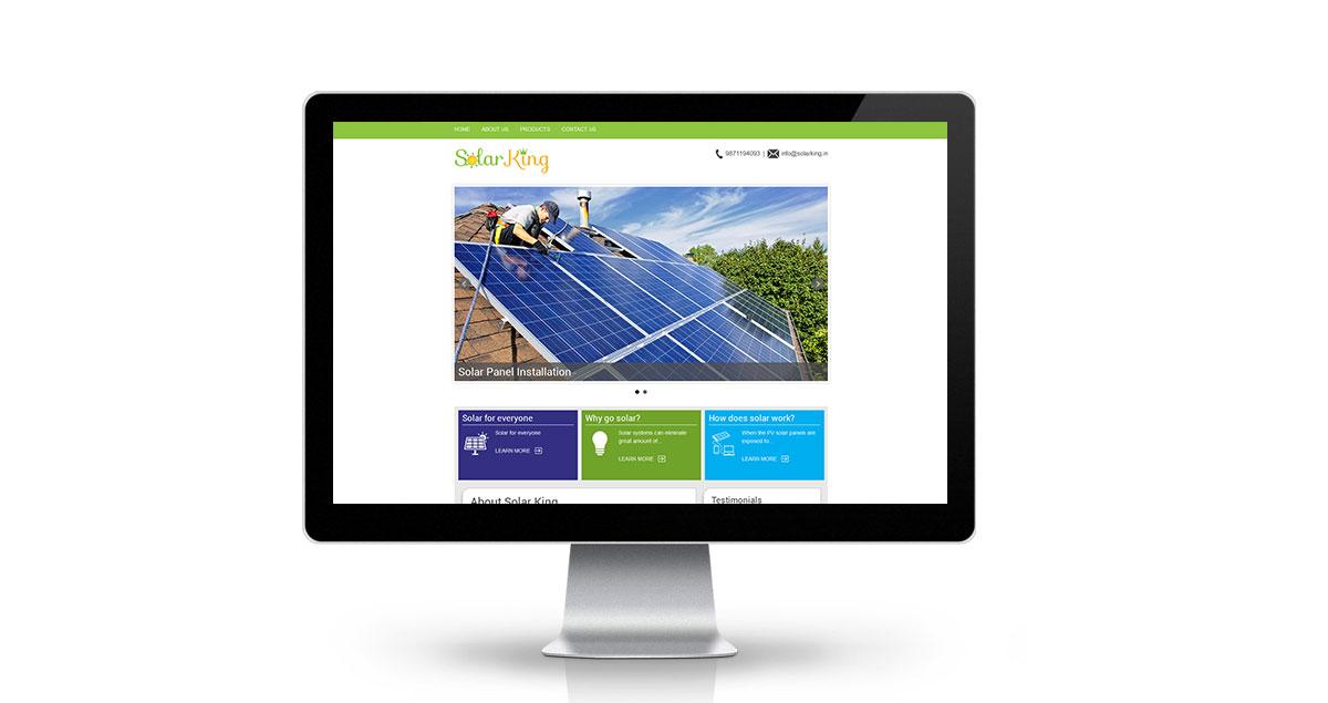 Solar King Website Desktop