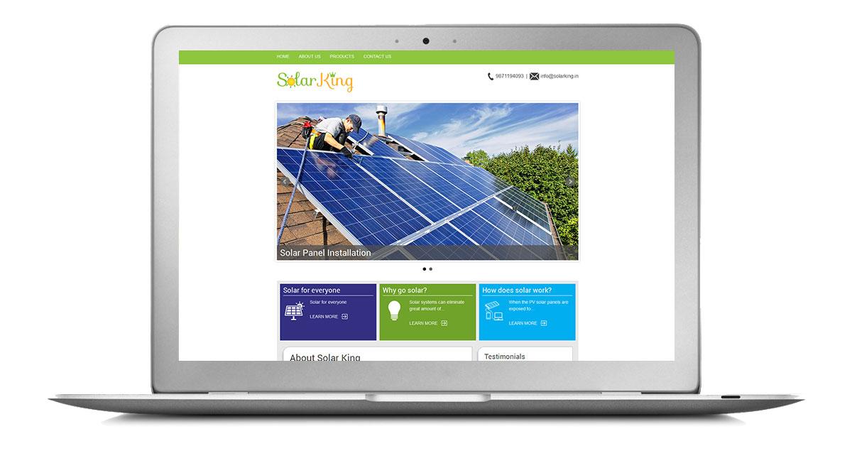 Solar King Website Laptop