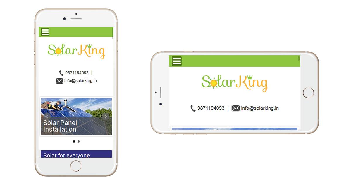Solar King Website Mobile
