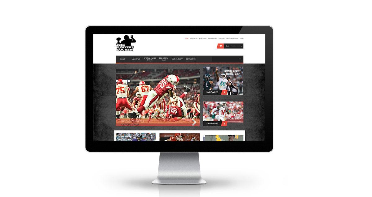 The Players Locker Website Desktop