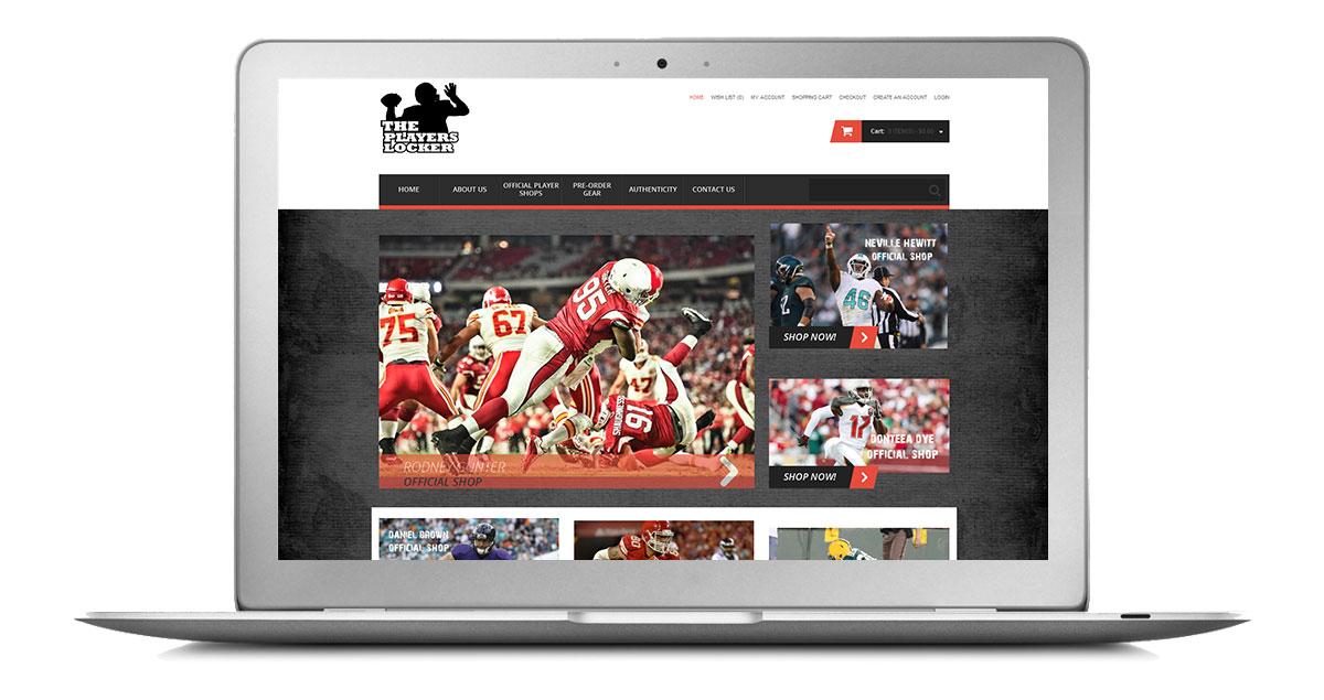The Players Locker Website Laptop