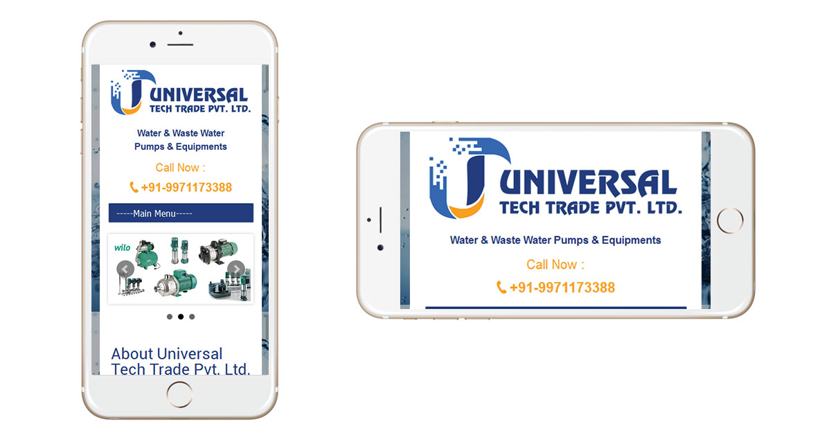 Universal Tech Trade Website Mobile