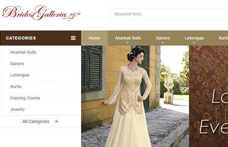 Brides Galleria Website