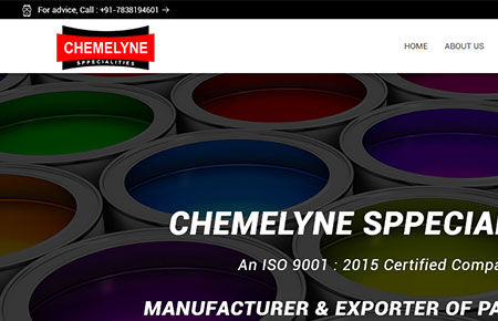 Chemelyne Sppecialities Website