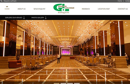 Green Lounge Banquets Website