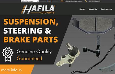 Hafila Auto Parts Website