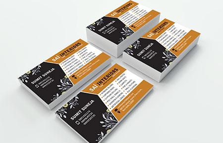 Sai Interiors Business Card